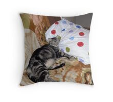 Stripes and Polka dots Throw Pillow