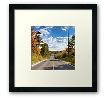 Autumn Road to Nowhere Framed Print