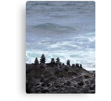 Maui Stone Cairns Along the Hana Highway Canvas Print