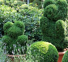 topiary green bear by mrivserg