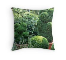 topiary green bear Throw Pillow