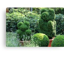 topiary green bear Canvas Print