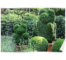 topiary green bear Poster