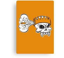 Boom Headshot gaming skull Canvas Print