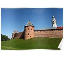 View of the fortress wall of the Novgorod Kremlin Poster