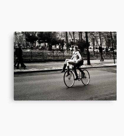 Etta & Butch Go for a Ride Canvas Print