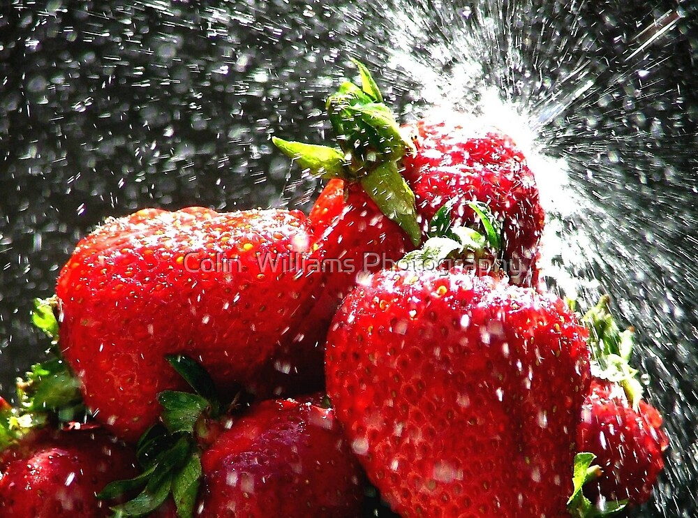 Strawberry Splatter by Colin  Williams Photography