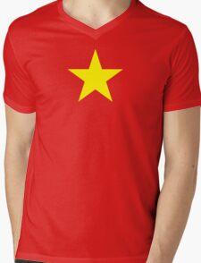Vietnam Flag Mens V-Neck T-Shirt