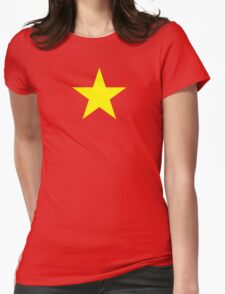 Vietnam Flag Womens Fitted T-Shirt