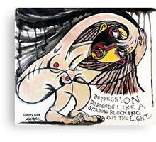 'DEPRESSION'  Canvas Print