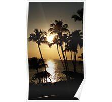 Maui Golden Sunset 2015 Poster