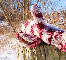 snowy mittens by Courtney Stewart