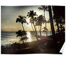 Sunset at Duke's Beach House, Maui Poster