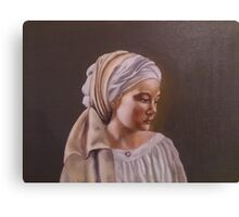 Gray Girl Canvas Print