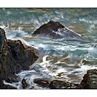 Slippery Surf by Dave  Higgins