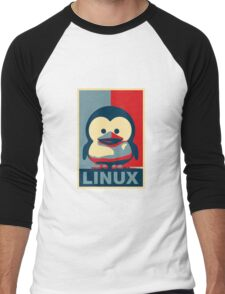 Linux Baby Tux Men's Baseball ¾ T-Shirt