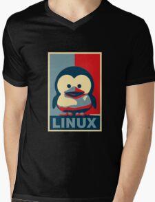 Linux Baby Tux Mens V-Neck T-Shirt