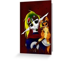 CreepyPasta Jak Greeting Card