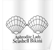 Seashell Bikini Poster