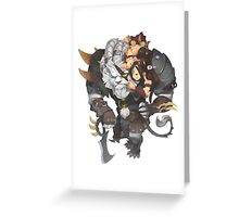 Rengar and nidalee  - fan art Greeting Card