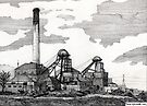 193 - WOODHORN COLLIERY, ASHINGTON - DAVE EDWARDS - INK - 1992 by BLYTHART