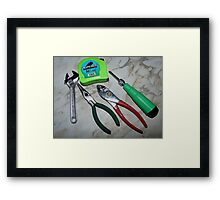 Small Hand Tools Framed Print