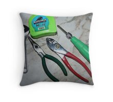 Small Hand Tools Throw Pillow