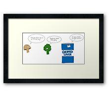 Sad Vegetables  Framed Print
