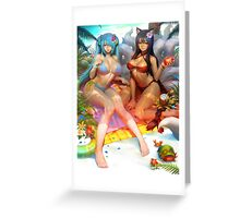 Ahri and Sona fan art Greeting Card