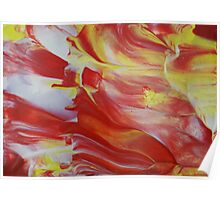 """Original Abstract Artwork """"Combustion"""" by Laura Tozer Poster"""