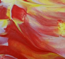 """Original Abstract Artwork """"Combustion"""" by Laura Tozer Sticker"""