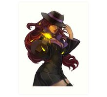Mafia Miss Fortune Art Print