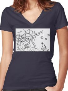 Flavored Eyes? Women's Fitted V-Neck T-Shirt