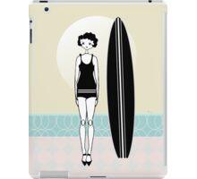 1920s Surfer Flapper Gatsby Girl at the Beach iPad Case/Skin