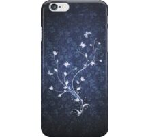 Floral vintage [blue] iPhone Case/Skin
