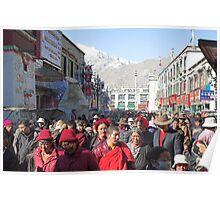 Tibetan Pilgrims, Lhasa Poster