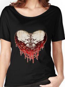 Skull-Heart (Hardcore) Women's Relaxed Fit T-Shirt