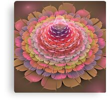 Dreamy fractal fantasy Trumpet flower Canvas Print