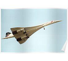 Concorde in Flight Poster