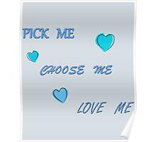 Grey's Anatomy - Pick Me, Choose Me, Love Me Poster
