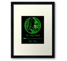 Arrow - Oliver Queen You Have Failed This City Framed Print