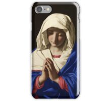 Sassoferrato_-_Jungfrun_i_bön -  The prayer of Mary iPhone Case/Skin