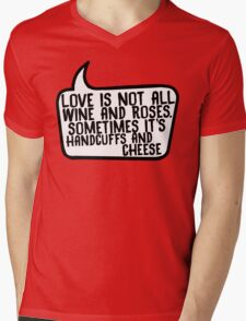 Handcuffs and Cheese Mens V-Neck T-Shirt