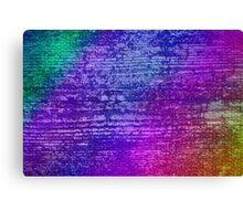 Colorful Grunge Mosaic Wood Texture  Canvas Print
