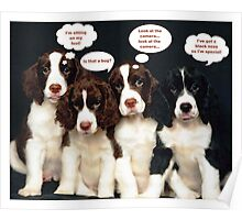 Puppy Thoughts Poster
