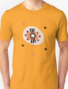 Abstract peach & black shapes T-Shirt