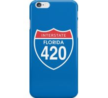 Florida 420 Day Red Blue Interstate Highway Sign iPhone Case/Skin