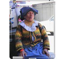 Saleslady At San Francisco Square - Cuenca Ecuador iPad Case/Skin