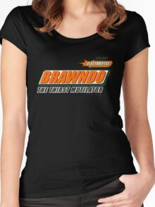 BRAWNDO Women's Fitted Scoop T-Shirt