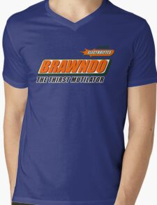 BRAWNDO Mens V-Neck T-Shirt